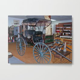 Antique Carriage in museum Metal Print