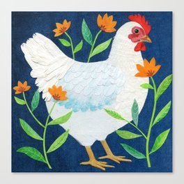 White Chicken Canvas Print