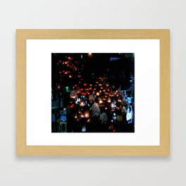 Lanterns in the Souk, Istanbul Framed Art Print