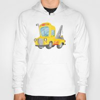 truck Hoodies featuring tow truck by Alapapaju