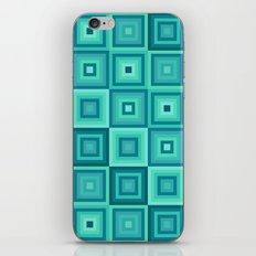 Blue cubes pattern iPhone & iPod Skin