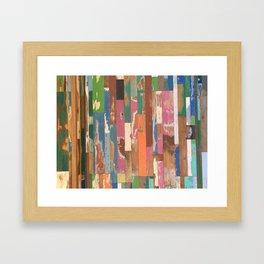 Maui Hawaii colorful fence art Framed Art Print