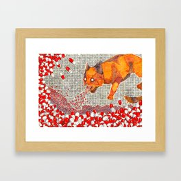 Vomit Cat Framed Art Print
