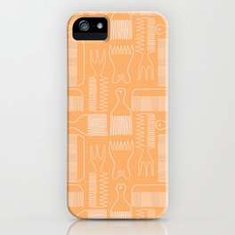 The Comb Drawer Geometric Pattern iPhone Case