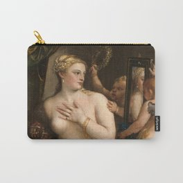 Classic Art - Venus with a Mirror - Titian Carry-All Pouch