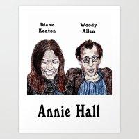 annie hall Art Prints featuring Annie Hall by AdrockHoward