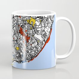 Lisbon mondrian Coffee Mug
