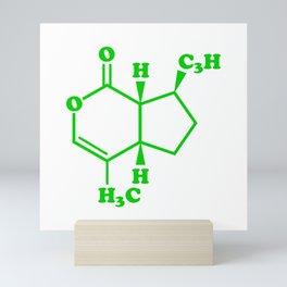 Catnip Nepetalactone Molecular Chemical Formula Mini Art Print