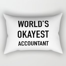 WORLD'S OKAYEST ACCOUNTANT Black Typography Rectangular Pillow