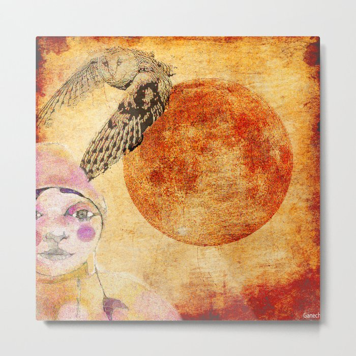 Shelsea and the red moon  Metal Print