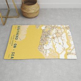 Southend - On - Sea Yellow City Map Rug