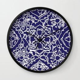 Isola Signature Print Navy Wall Clock