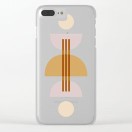 Amber Abstract Half Moon 1 Clear iPhone Case