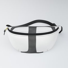 Letter T Initial Monogram Black and White Fanny Pack