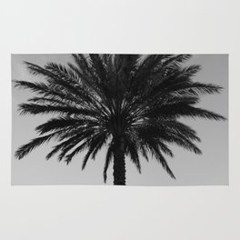 Big Black and White Palm Tree Rug