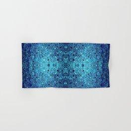 Deep blue glass mosaic Hand & Bath Towel