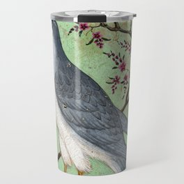 Falcon on a Perch - Vintage Indian Art Print Travel Mug