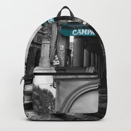 Black and White Bologna Street Photography Vector Green Backpack