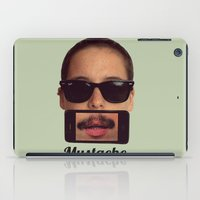 mustache iPad Cases featuring mustache~ by Michal