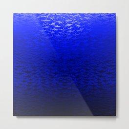Sharks In A Blue Hue Metal Print