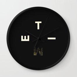 flat circle Wall Clock