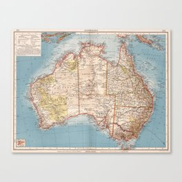 Australian Topography Map (1905) Canvas Print