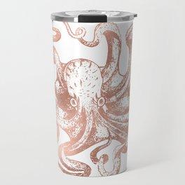 Rose Gold Octopus Travel Mug