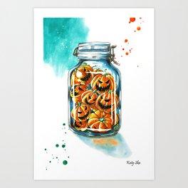 pickled pumpkins Art Print