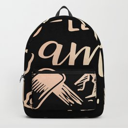 Let's Go Camping Travel Explore Vacation Backpack