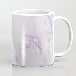 Marble Love Purple Metallic Coffee Mug