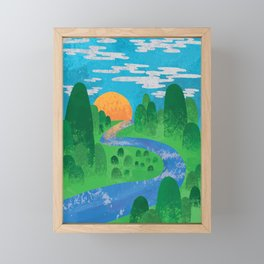 The Valley Framed Mini Art Print