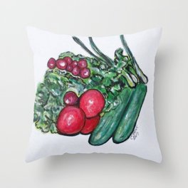 Freshly Uncut Salad Throw Pillow