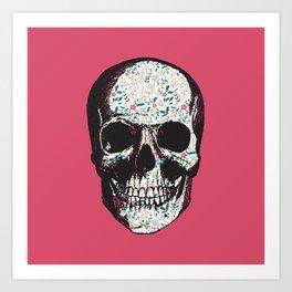 R-Skull Art Print