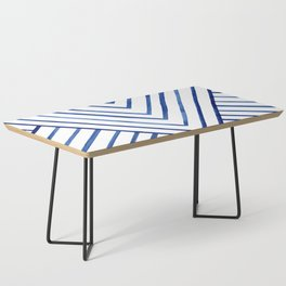 Watercolor lines pattern   Navy blue Coffee Table