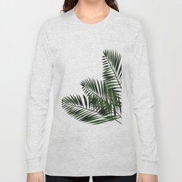 Tropical Exotic Palm Leaves I Long Sleeve T-shirt
