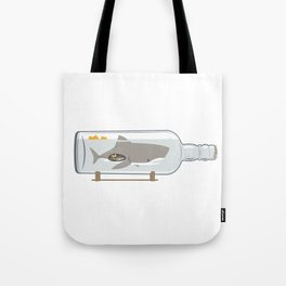 The Shark in a Bottle Tote Bag