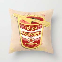 YM Noodles: Campbell's Throw Pillow