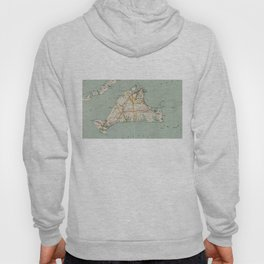 Vintage Map of Martha's Vineyard (1917) Hoody