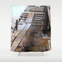 bridge Shower Curtains featuring Bridge by Fresh & Poppy