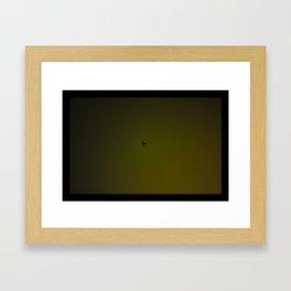 Night Plane Framed Art Print