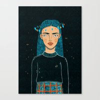 hologram Canvas Prints featuring In A Hologram With You by a thousand daisies