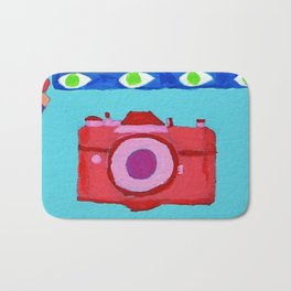 colorful camera Bath Mat