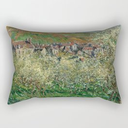 Plum Trees in Blossom Rectangular Pillow