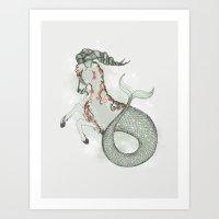 capricorn Art Prints featuring Capricorn by Vibeke Koehler