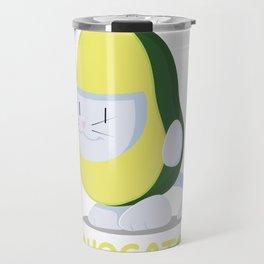 Delicious Avogato - Perfect For Cat & Avocado Lovers Travel Mug