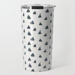 Geometrical black white hand painted watercolor triangles Travel Mug