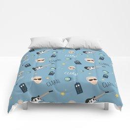 Twelve Doctor Who pattern Comforters