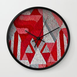 Pink, Red and Grey Wall Clock