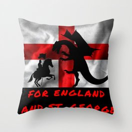 For England And St George Throw Pillow