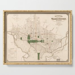 Vintage Map of Washington DC (1876) Serving Tray